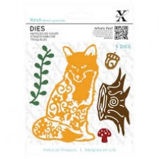 Xcut Dies (5pcs) - Filigree Fox