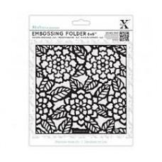 "6 x 6"" Xcut Embossing Folder - Chrysanthemums"