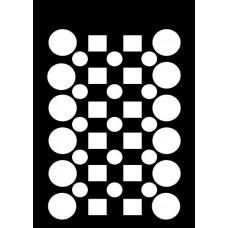 Creative Expressions Mini Stencil Checker Board