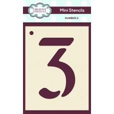 Number Mini Stencil - Number - 3