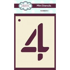 Number Mini Stencil - Number - 4