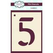 Number Mini Stencil - Number - 5
