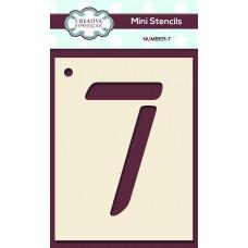 Number Mini Stencil – Number - 7
