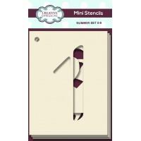 Number Mini Stencils – Number Set 0-9