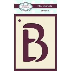 Alphabet Mini Stencil – Letter - B