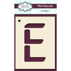 Alphabet Mini Stencil – Letter - E