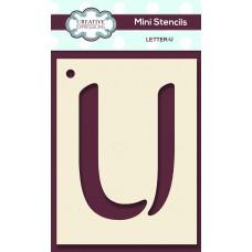Alphabet Mini Stencil – Letter - U