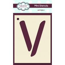 Alphabet Mini Stencil – Letter - V