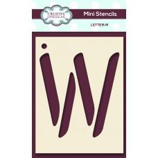 Alphabet Mini Stencil – Letter - W