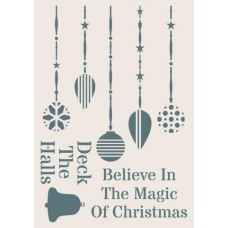 Sentimentally Yours Stencil - Christmas Ornaments
